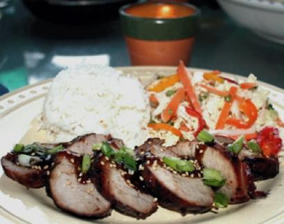 Grilled Pork Tenderloin Kalbi Style