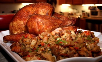 Smoked turkey and stuffing