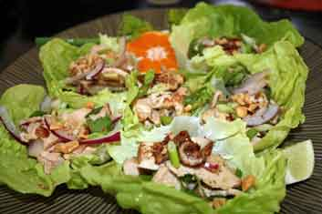 Grilled Thai Chicken salad among great Asian chicken recipes