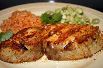 Grilled Wahoo fish: try grilled Ono with Mojo de Ajo Sauce